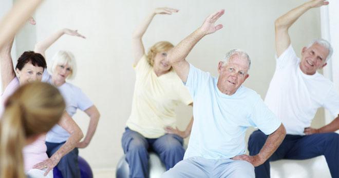 зарядка пенсионеров